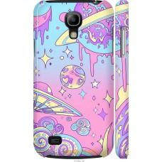 Чехол на Samsung Galaxy S4 mini Duos GT i9192 Розовая галакт