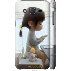 Чехол на Samsung Galaxy J2 J200H Милая девочка с зайчиком