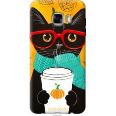 Чехол на Samsung Galaxy C7 C7000 Осенний кот