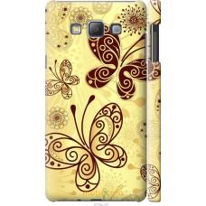 Чехол на Samsung Galaxy A7 A700H Рисованные бабочки