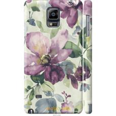 Чехол на Samsung Galaxy Note 4 N910H Акварель цветы