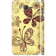 Чехол на Samsung Galaxy J7 J700H Рисованные бабочки