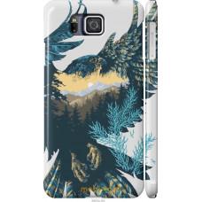Чехол на Samsung Galaxy Alpha G850F Арт-орел на фоне природы