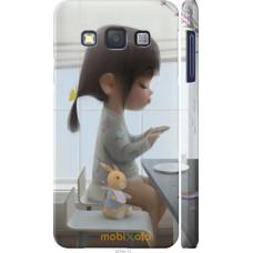 Чехол на Samsung Galaxy A3 A300H Милая девочка с зайчиком