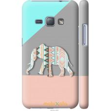 Чехол на Samsung Galaxy J1 (2016) Duos J120H Узорчатый слон