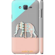 Чехол на Samsung Galaxy J7 J700H Узорчатый слон