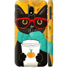 Чехол на Samsung Galaxy J3 (2017) Осенний кот
