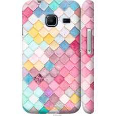 Чехол на Samsung Galaxy J1 Mini J105H Красочная черепица
