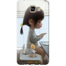 Чехол на Samsung Galaxy A9 Pro Милая девочка с зайчиком