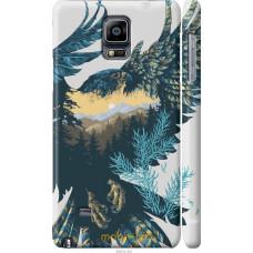 Чехол на Samsung Galaxy Note 4 N910H Арт-орел на фоне природ