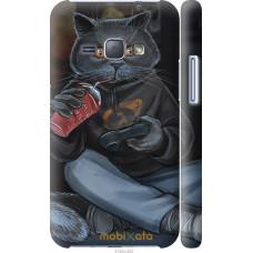 Чехол на Samsung Galaxy J1 (2016) Duos J120H gamer cat
