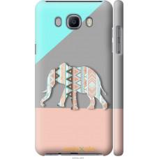 Чехол на Samsung Galaxy J7 (2016) J710F Узорчатый слон