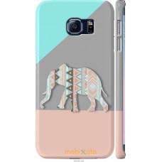 Чехол на Samsung Galaxy S6 Edge G925F Узорчатый слон
