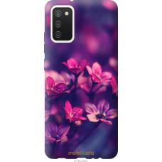 Чехол на Samsung Galaxy A02s A025F Пурпурные цветы