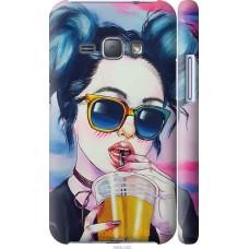 Чехол на Samsung Galaxy J1 (2016) Duos J120H Арт-девушка в о