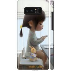 Чехол на Samsung Galaxy Note 8 Милая девочка с зайчиком