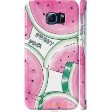 Чехол на Samsung Galaxy S6 Edge G925F Розовый арбузик
