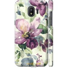 Чехол на Samsung Galaxy J2 2018 Акварель цветы