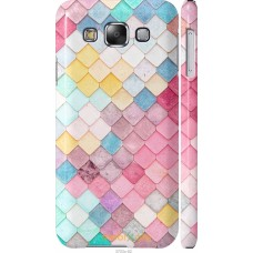 Чехол на Samsung Galaxy E5 E500H Красочная черепица
