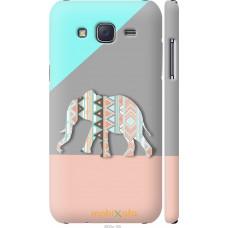 Чехол на Samsung Galaxy J5 (2015) J500H Узорчатый слон