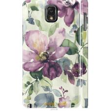 Чехол на Samsung Galaxy Note 3 N9000 Акварель цветы