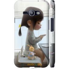 Чехол на Samsung Galaxy J1 Ace J110H Милая девочка с зайчико