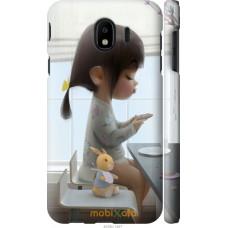 Чехол на Samsung Galaxy J4 2018 Милая девочка с зайчиком
