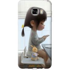 Чехол на Samsung Galaxy C7 C7000 Милая девочка с зайчиком