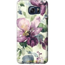 Чехол на Samsung Galaxy S6 Edge Plus G928 Акварель цветы