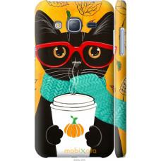 Чехол на Samsung Galaxy J3 Duos (2016) J320H Осенний кот