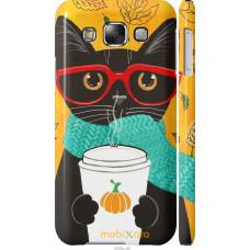 Чехол на Samsung Galaxy E5 E500H Осенний кот