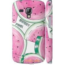 Чехол на Samsung Galaxy S Duos s7562 Розовый арбузик