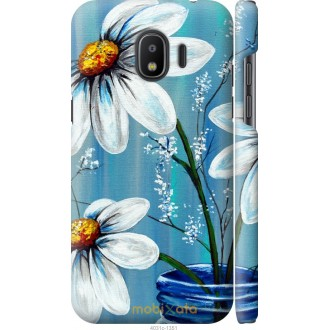 Чехол на Samsung Galaxy J2 2018 Красивые арт-ромашки