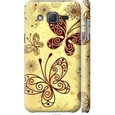 Чехол на Samsung Galaxy J2 J200H Рисованные бабочки