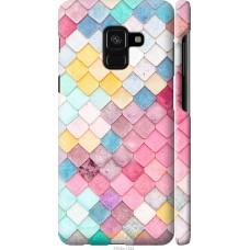 Чехол на Samsung Galaxy A8 2018 A530F Красочная черепица