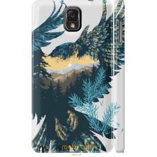 Чехол на Samsung Galaxy Note 3 N9000 Арт-орел на фоне природ