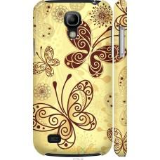 Чехол на Samsung Galaxy S4 mini Рисованные бабочки