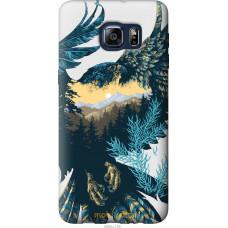 Чехол на Samsung Galaxy S6 Edge Plus G928 Арт-орел на фоне п