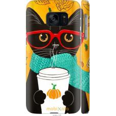 Чехол на Samsung Galaxy S7 G930F Осенний кот