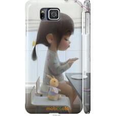 Чехол на Samsung Galaxy Alpha G850F Милая девочка с зайчиком