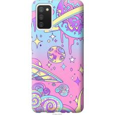 Чехол на Samsung Galaxy A02s A025F Розовая галактика