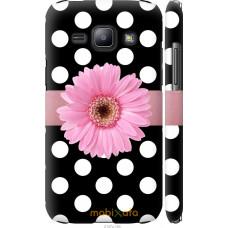 Чехол на Samsung Galaxy J1 J100H Цветочек горошек v2