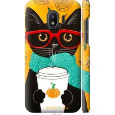 Чехол на Samsung Galaxy J2 2018 Осенний кот