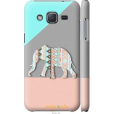 Чехол на Samsung Galaxy J2 J200H Узорчатый слон