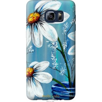 Чехол на Samsung Galaxy S6 Edge Plus G928 Красивые арт-ромашки