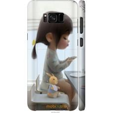 Чехол на Samsung Galaxy S8 Милая девочка с зайчиком