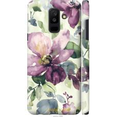 Чехол на Samsung Galaxy A6 Plus 2018 Акварель цветы