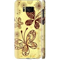 Чехол на Samsung Galaxy S8 Plus Рисованные бабочки