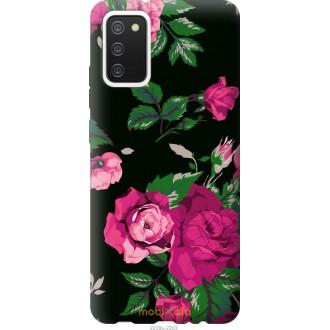 Чехол на Samsung Galaxy A02s A025F Розы на черном фоне