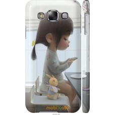 Чехол на Samsung Galaxy E5 E500H Милая девочка с зайчиком